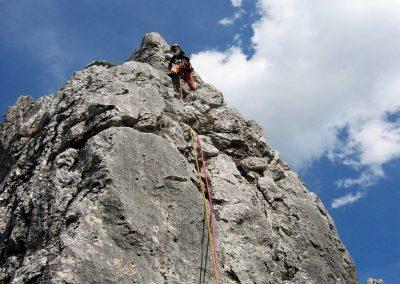 Felsklettern im Oberreintal